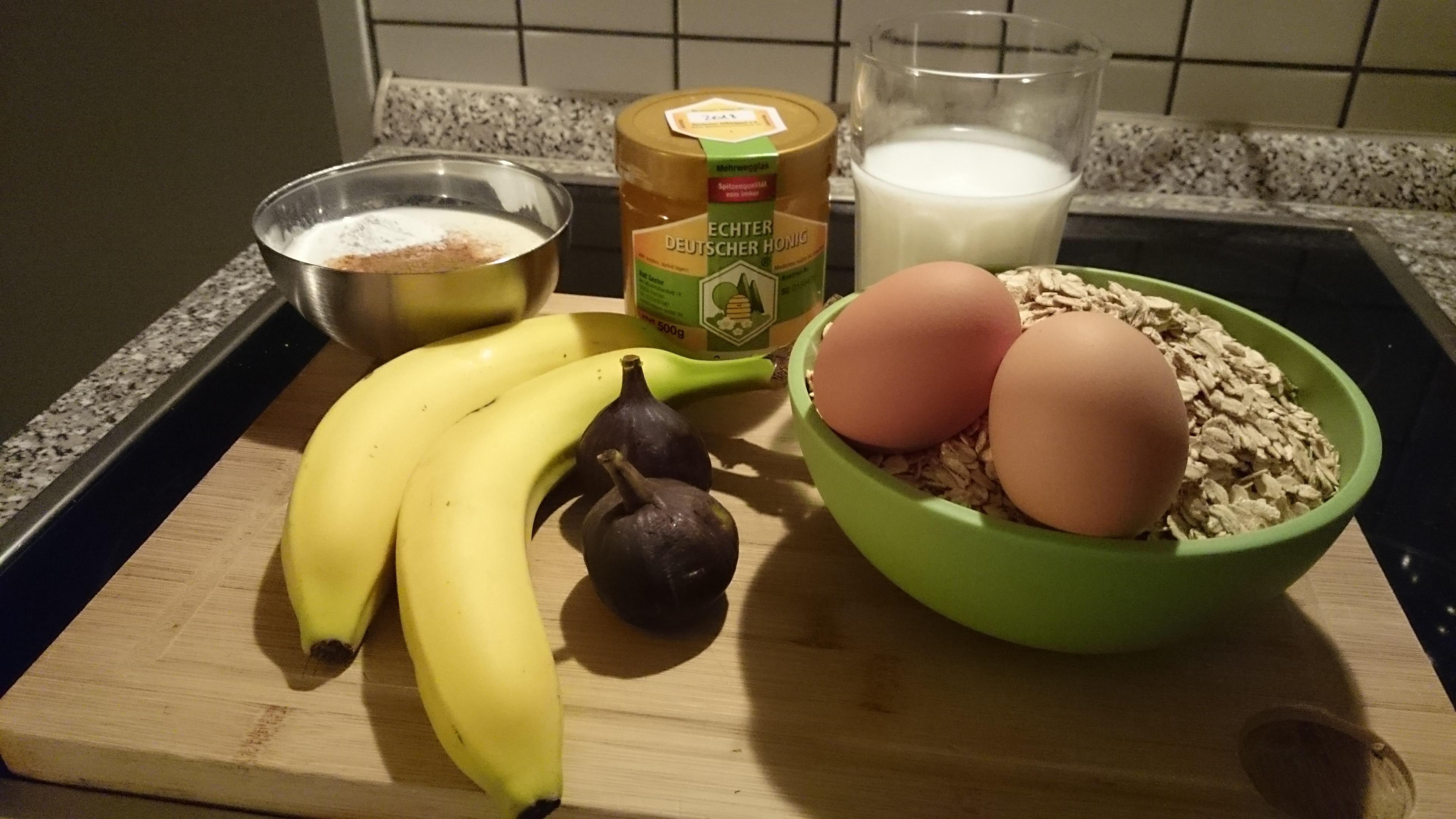 Honig, Muffins, Zutaten, Rezept